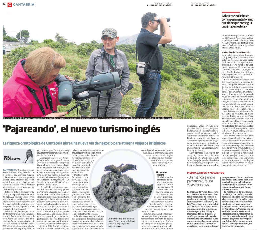 Artículo Diario Montañés Experiencia Cooltoure